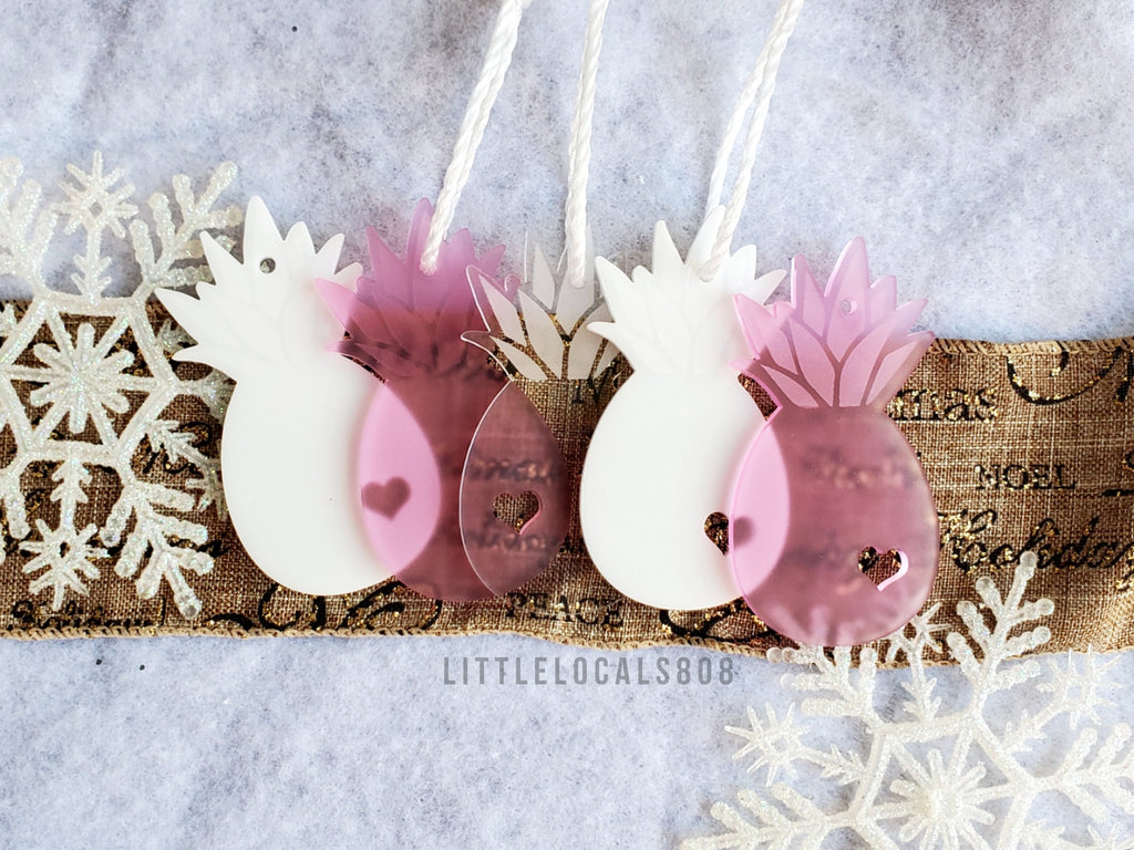 Ornaments / Pineapple Pink Set