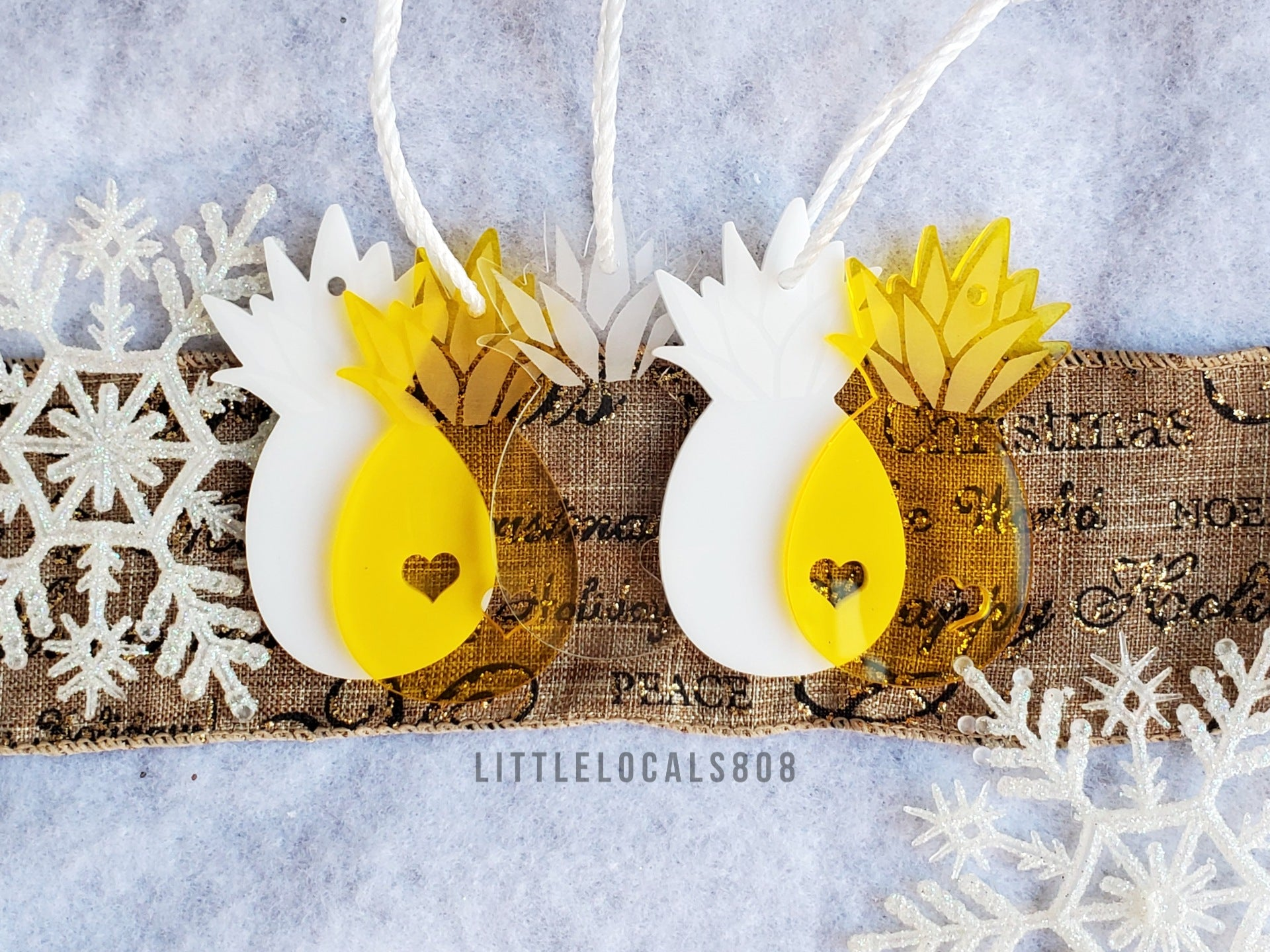 Ornaments / Pineapple Yellow Set