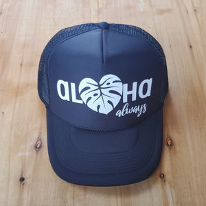 Aloha Always Monstera Trucker Hat