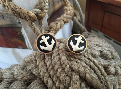 Bronze Lightship cufflink-nautical Anchor