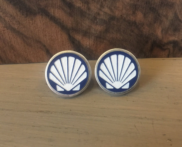 Shell Sterling cufflinks