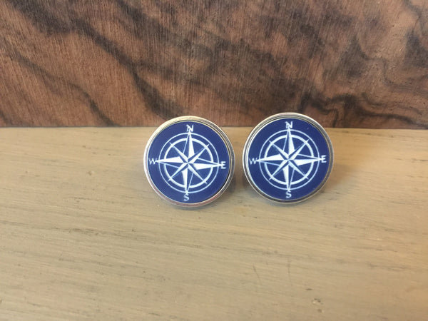 Compass Rose Sterling cufflinks