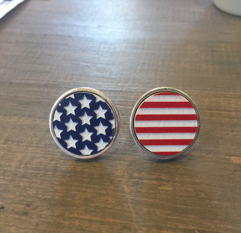 American Flag Sterling cufflinks