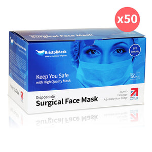 Disposable Surgical Face Masks Made in the UK x50