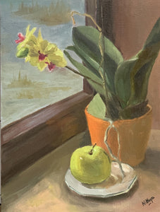 Large Still Life - Orchids on a winter morning