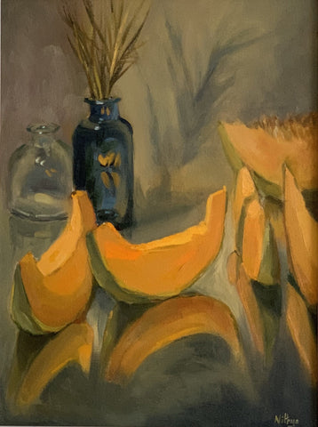 Large Still Life - Cantaloupe Reflections