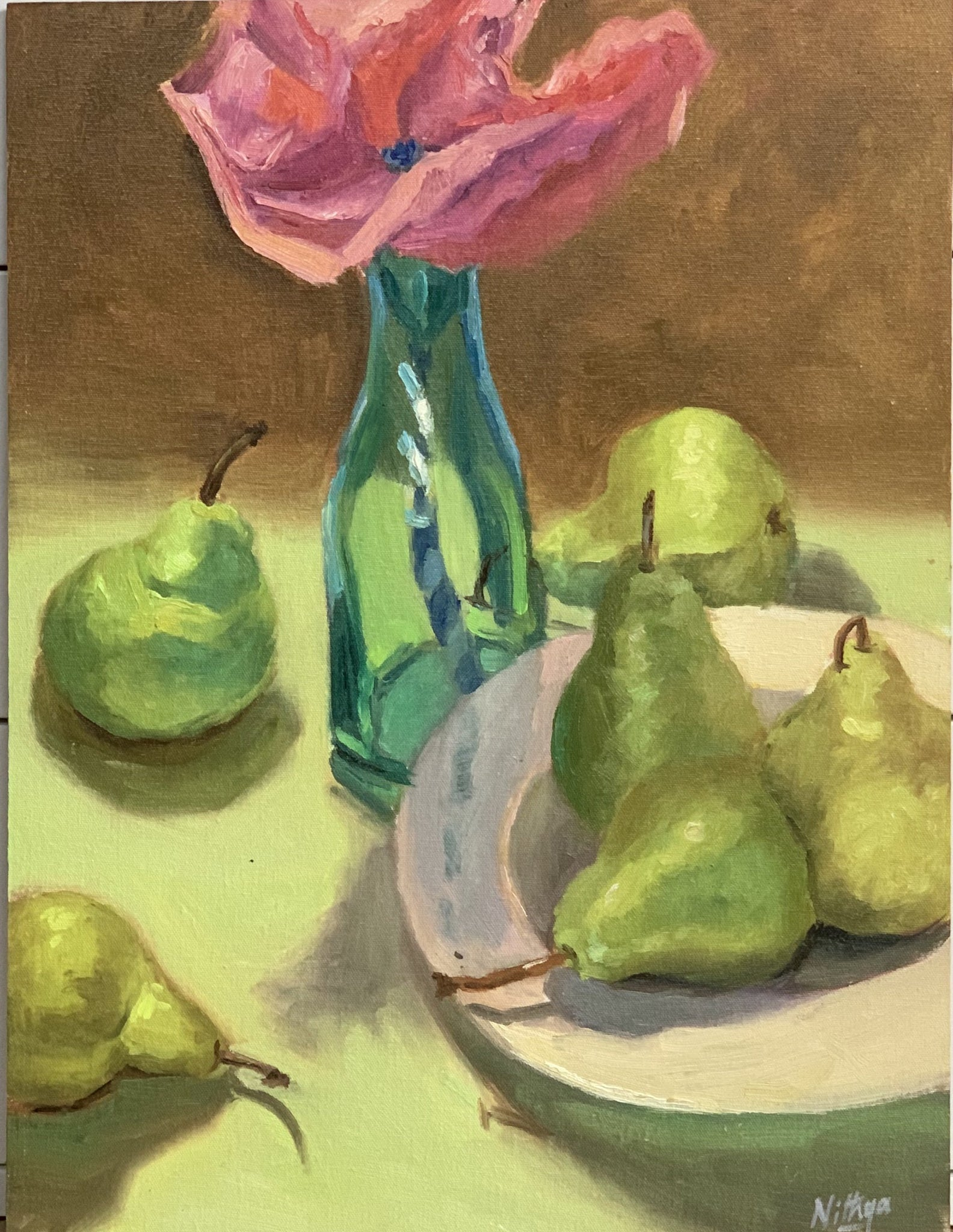 Large Still Life - Poppy and Pears