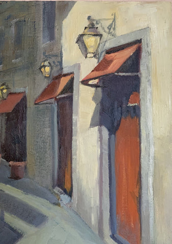 Original Oil Painting - Street in Florence