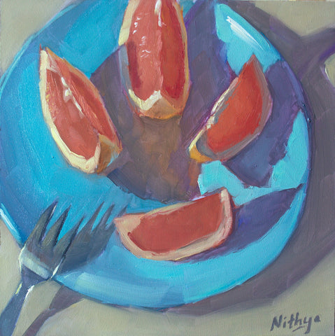 Small Oil Painting - Sunlit Slices