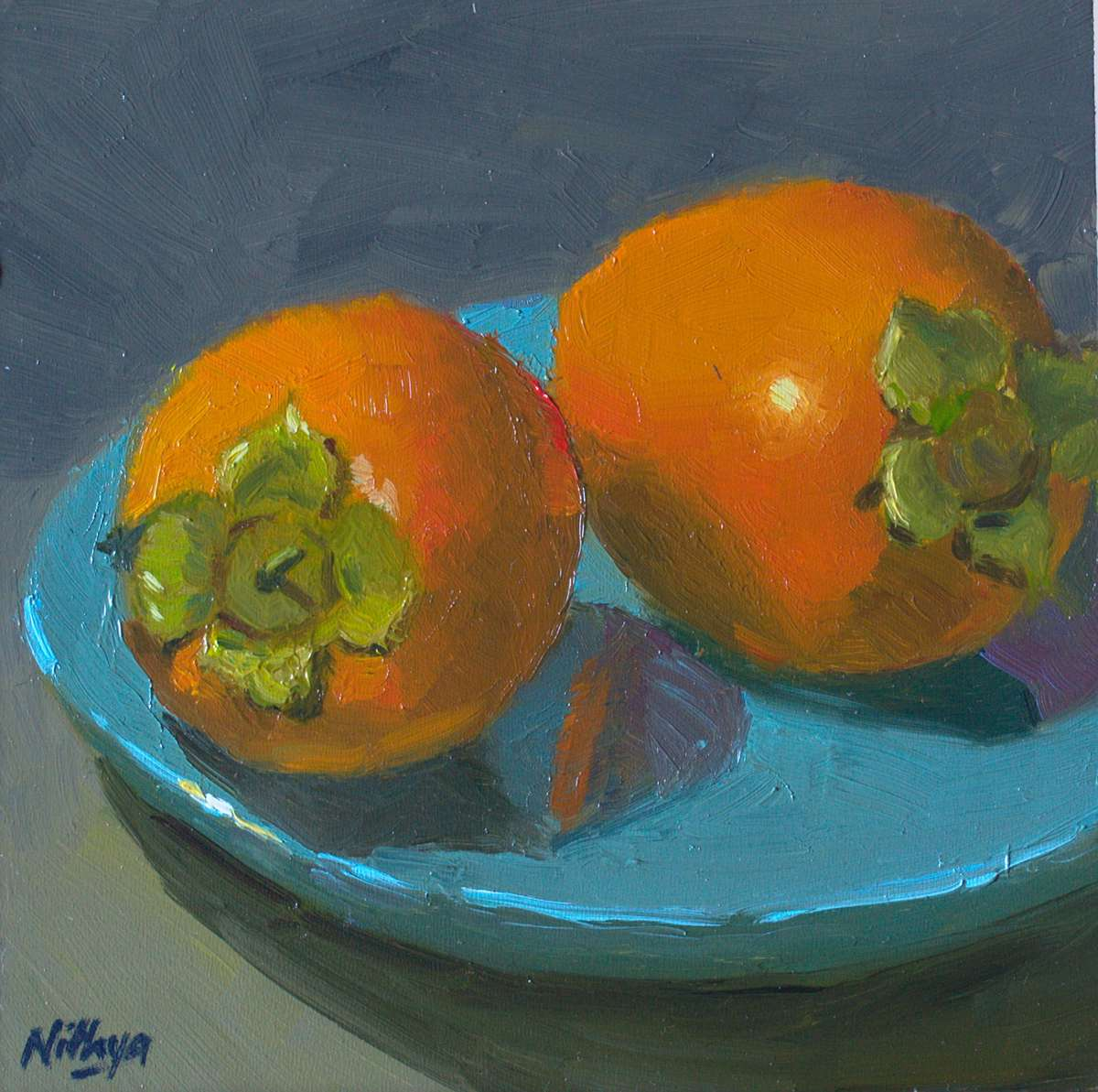 Small Painting - Pair of Persimmons
