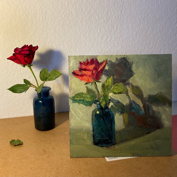 Stilllife Painting - Red Rose