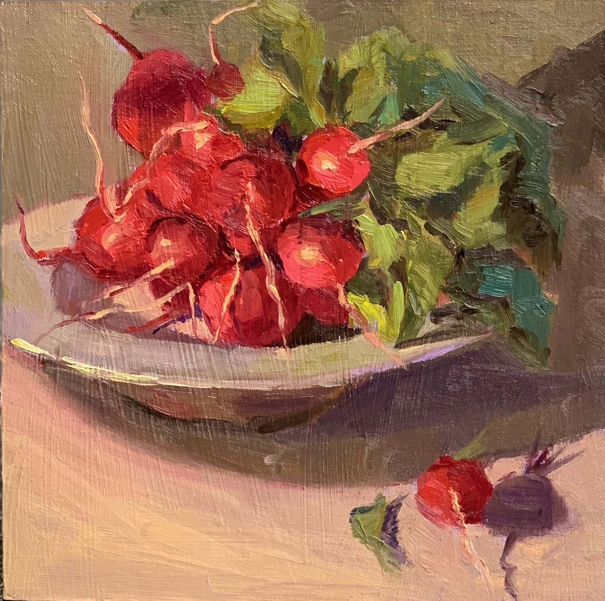 Bowl of Radishes - Original Oil Painting