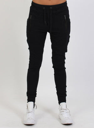 Escape Trackies - Black Zip