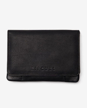 Mid Milled RFID Leather Wallet-Black