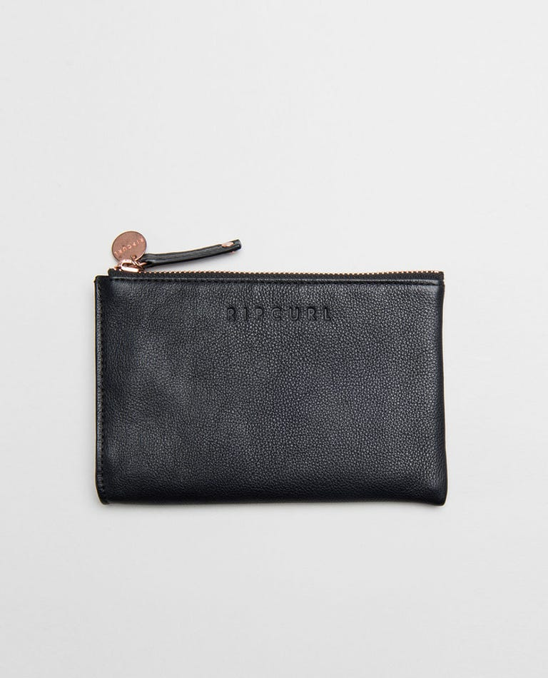 Mini RFID Leather Coin Purse - Black