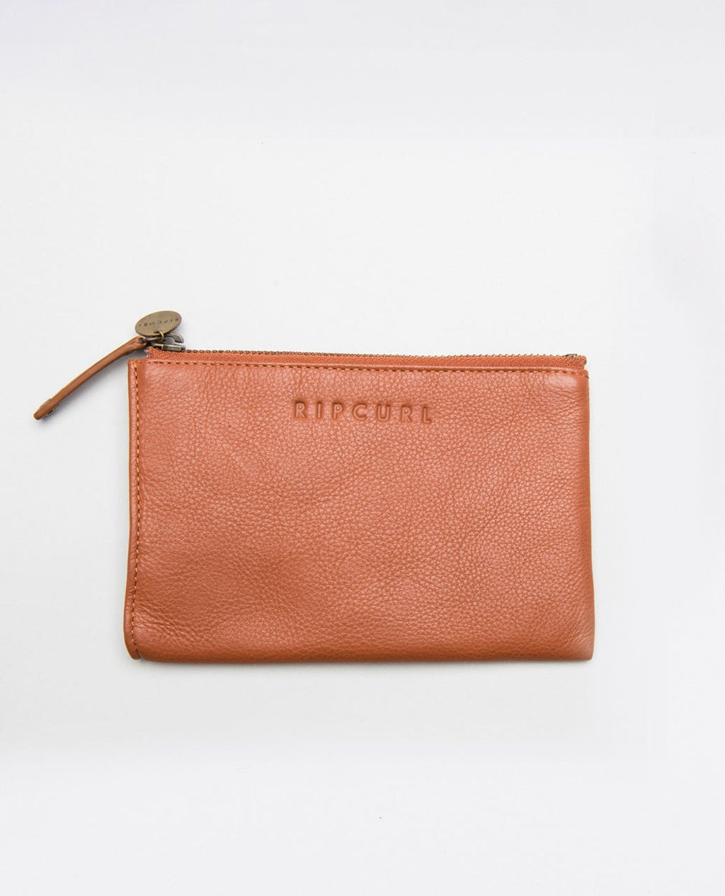 Mini RFID Leather Coin Purse - Burnt Orange