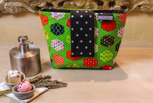 Load image into Gallery viewer, Green makeup pouch. Cosmetic bag. Large makeup bag. Toiletry bag. Travel cosmetic case. Large zipper.