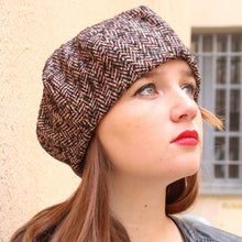 Load image into Gallery viewer, Chevron fabric beret.