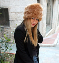 Load image into Gallery viewer, Cossack hat, winter hat, fake fur hat, pillbox hat,