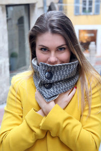 Plaid scarf, tweed scarf, tartan scarf, plaid cowl, women scarf, winter scarf, fashion scarf, trendy scarf, wool scarf, plaid neckwarmer