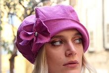 Load image into Gallery viewer, Pink summer slouchy newsboy hat,