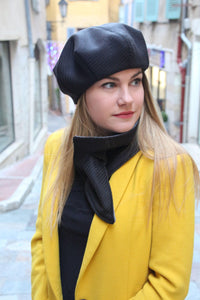 Wool french slouchy beret.