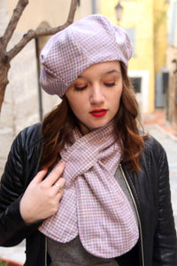 Womens hat and scarf set a perfect gift for her.