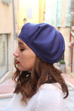 Load image into Gallery viewer, Blue beret hat, Trendy fabric hat,
