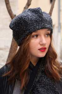 Trendy scarf set, Wool scarf and hat,