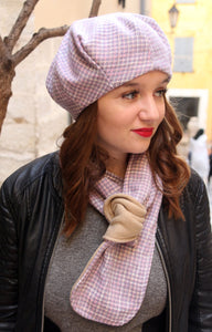 French beret. Unique wool beret handmade in France.