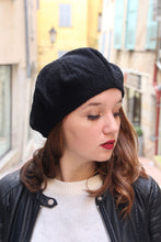 Load image into Gallery viewer, Little black beret, Slouchy hat,