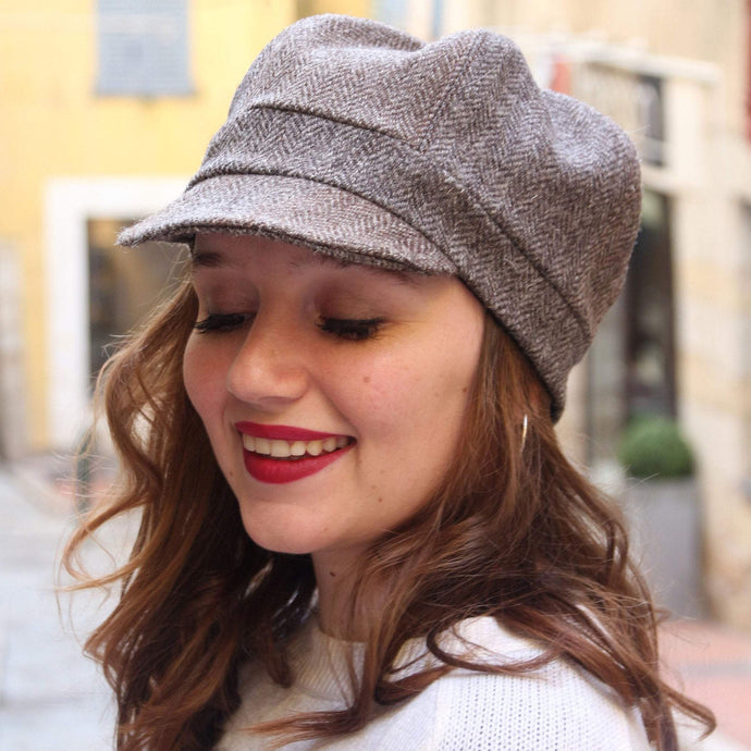 Tweed cap, Womens baker boy hat,