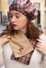 Load image into Gallery viewer, Tartan scarf, Pink plaid scarf,