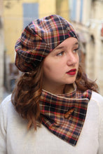 Load image into Gallery viewer, Tartan hat and scarf set,