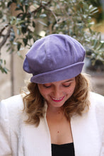 Load image into Gallery viewer, Lavender newsboy, Corduroy hat,