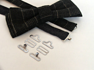 100 sets BOWTIE hardware. Make professional bow ties using these adjustable bow tie fasteners. DIY bow tie clips. Hardware for bow ties