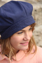 Load image into Gallery viewer, French blue newsberet hat.