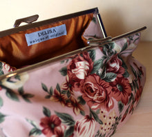 Load image into Gallery viewer, Floral clutch bag. Fall flowers silk hand bag. Womans clutch. Bridal clutch.