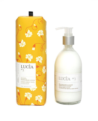 Lucia Tea Leaf and Wild Honey Hand and Body Lotion