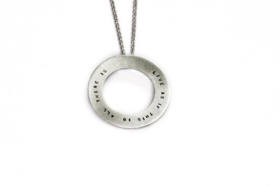 Andrea Waines Silver Halo Necklace