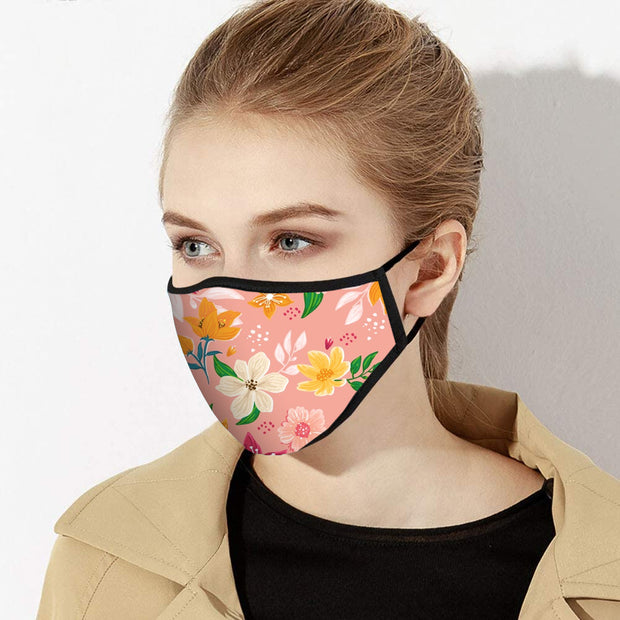 Summer Floral Face Mask - Made in USA