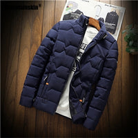 Mountainskin Winter Men Jacket 2019 Men's New Casual Thicken Warm Cotton Jacket Slim Clothes Youth Soild Jacket Men's Wear SA743
