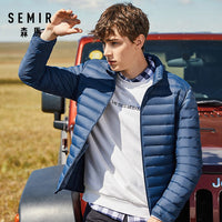 SEMIR 2019 Down Jacket Men Winter Portability Warm 90% White Duck Down Hooded Man Coat jaqueta masculino chaqueta hombre