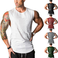Hirigin Fashion Men Shirts Slim Fit Casual Sleeveless Tops Summer Clothes Bodybuilding Muscle Tee