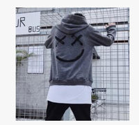 Hot Sale Fashion  Plus Size 3XL Hip Hop Street Wear Men Hooded Hoodies Smile Print Sweatshirts Tops Hoodie Clothes
