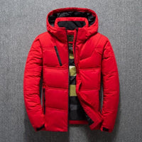 2019 Winter New Jacket Mens Quality Thermal Thick Coat Snow Red Black Parka Male Warm Outwear Fashion White Duck Down Jacket Men