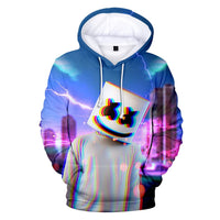 New Style Cotton Men Sweatshirts Candy Band Baida DJ Marshmello 3D Digital Printing Hoodies Male Fashion Streetwear Hoodie