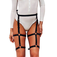 UYEE Trendy Sexy Lingerie Belt Adjustable Leather Garter Women For Female Erotic Waistband Body Suspenders Harness LB-007