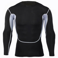 GYM Tight Apparel Men's Sports Long Sleeve Crewneck T-shirt Camo Series Quick Dry Tight Stretch Training Suit