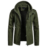 Zogaa Brand Men's Jacket Army Green Military Wide-waisted Coat Casual Cotton Hooded Windbreaker Jackets Overcoat Male 2019 NEW